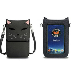 Fun Cat Black - Phone Purse