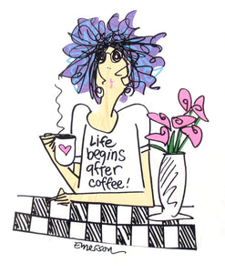 Life begins after coffee - Nightshirt In A Bag