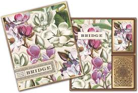 Magnolia Bridge Gift Set - 2 Playing Card Decks & 2 Score Pads