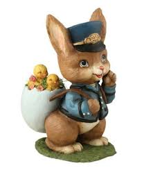 Easter Special Delivery Bunny Postman Figure