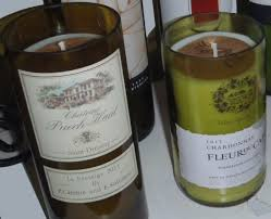 Wine Scented Candle in Wine Bottle - Assorted