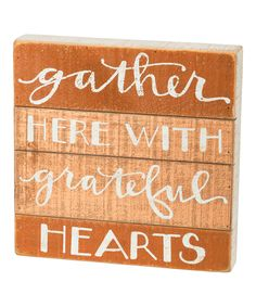 Gather Here Slat Sign