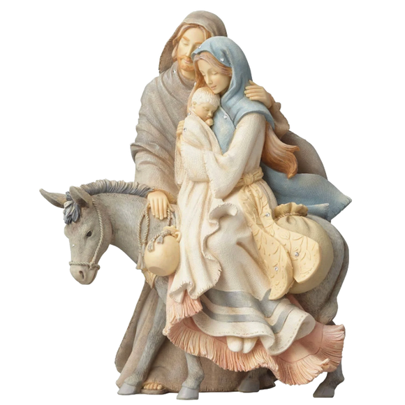 Holy Family with Donkey Figurine - Foundations