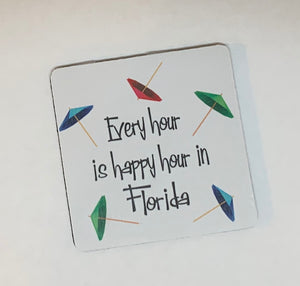 NSB/Florida Rubber Coasters - Assorted Styles