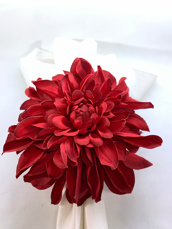Dahlia Red Napkin Ring