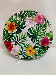 "14"" Hibiscus Charger"
