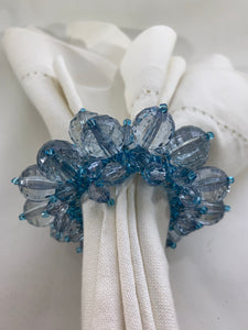 Blue & Clear Beaded Napkin Ring