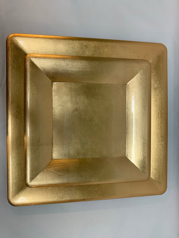 Square Gold Charger