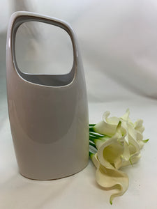 Handle Vase Short - White