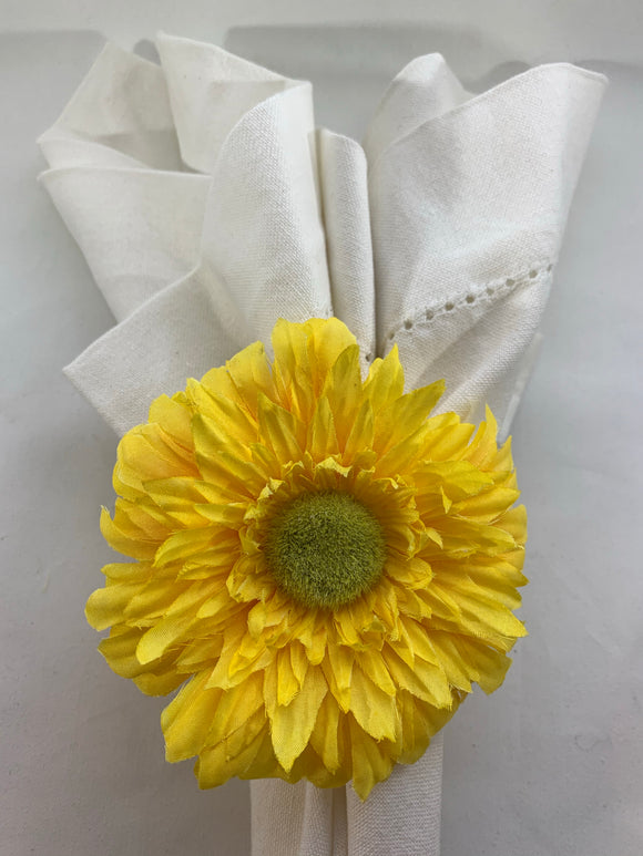 Yellow Daisy Napkin Ring