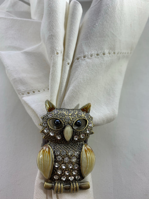 Jeweled Owl Napkin Ring