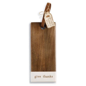 Give Thanks Wood Board