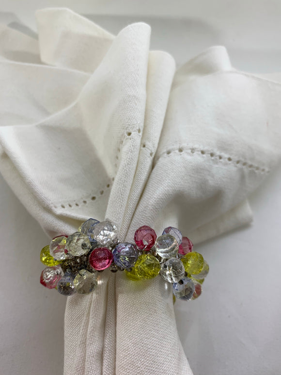 Pastel Colors Beaded Napkin Ring