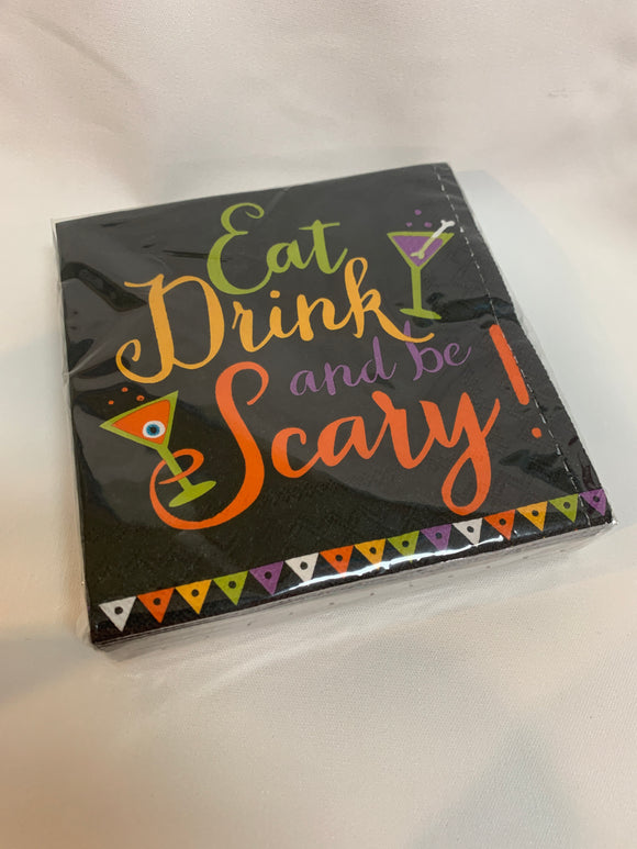Eat, Drink, and Be Scary Paper Napkins