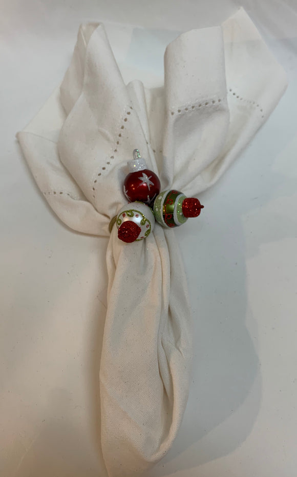 Festive Ornament Napkin Ring