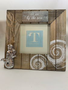 See You By The Sea Frame w/Charm