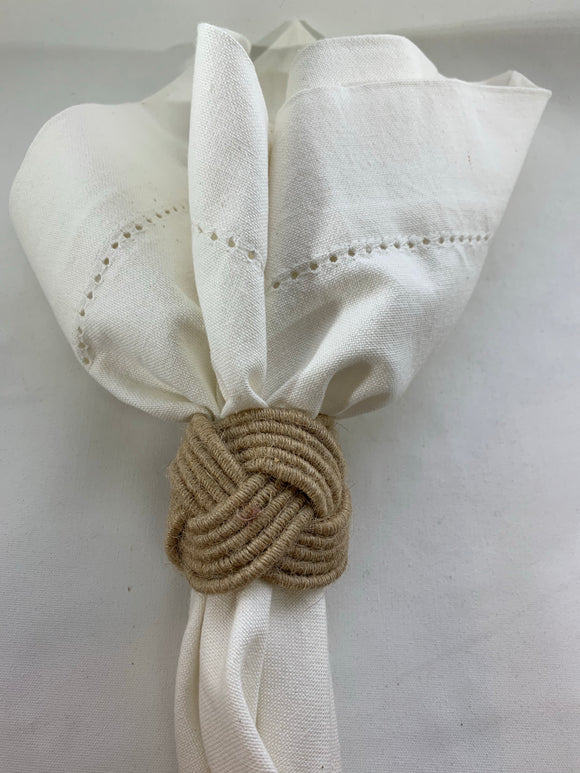 Natural Jute Knot Napkin Ring