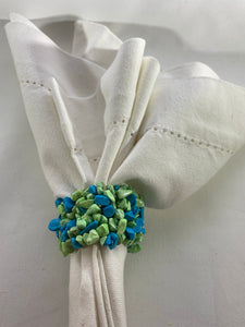 Green & Blue Stone Elastic Napkin Ring