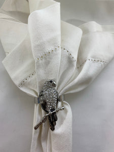 Jeweled Parrot Napkin Ring