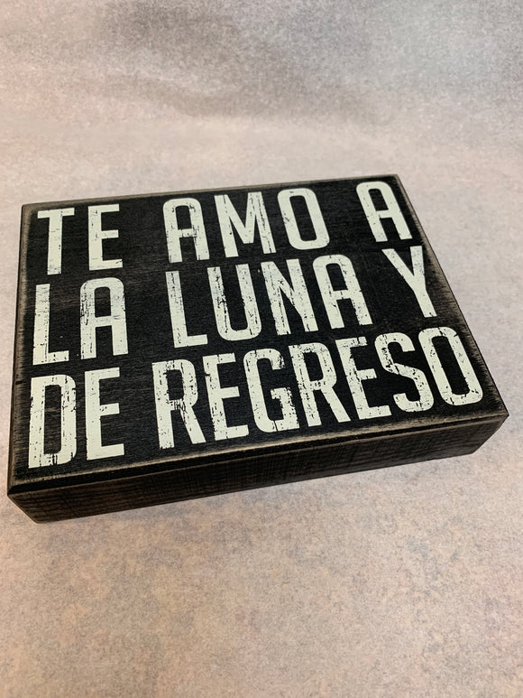 Box Sign - De Regreso