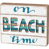 Slat Box Sign - Beach