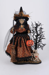 Lighted Haunted Trail Witch On Base - Karen Didion