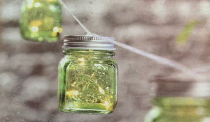 Ltd Green Glass - Mason Jar Garland
