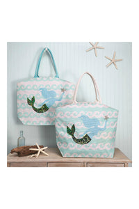 Mermaid Tote Bag - 2 Assorted