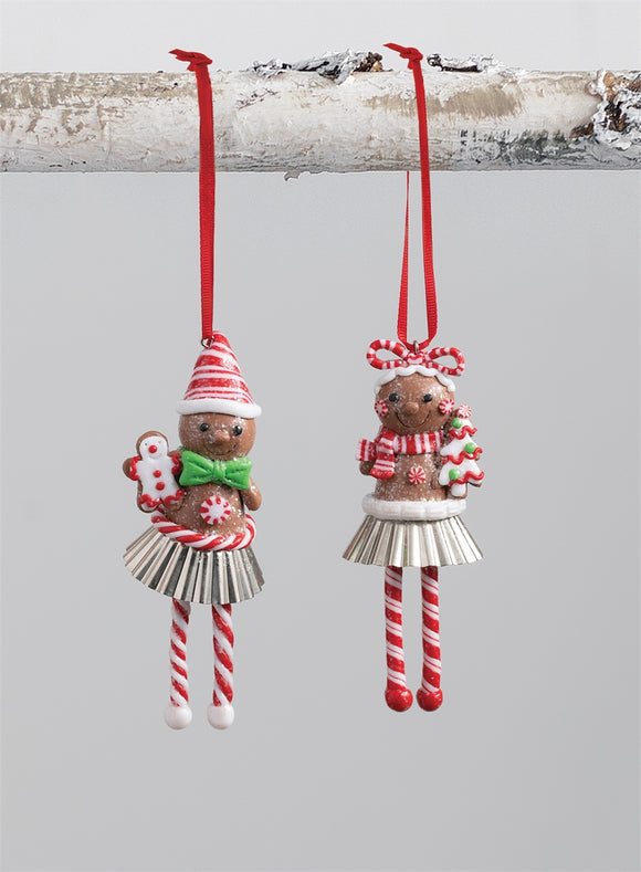 Gingerbread Feet Ornament - 2 Assorted