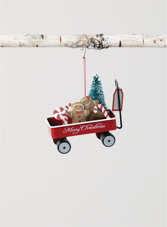 Gingerbread Wagon Ornament