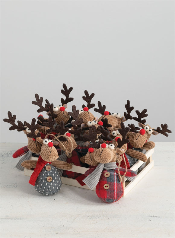 Reindeer Ornament - 2 Assorted