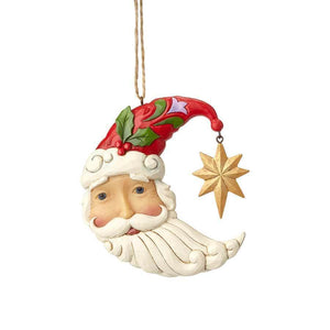 Ornament - Crescent Moon Santa