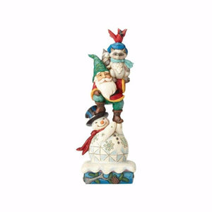 "Winter Wonderland Stacked Santa/Gnome/Cardinal/Raccoon - ""Stacks of Winter Wishes"""