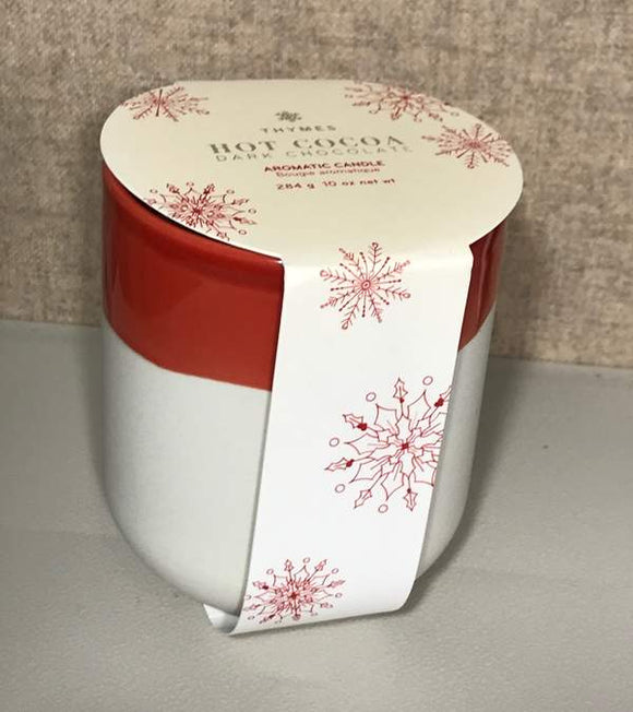 Hot Cocoa Dark Chocolate Candle