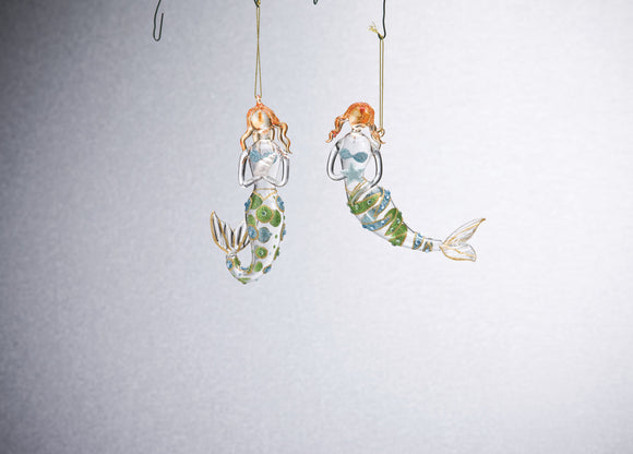 Mermaid Ornament - 2 Assorted