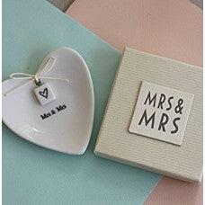 Mrs. & Mrs. Ring Dish in Gift Box
