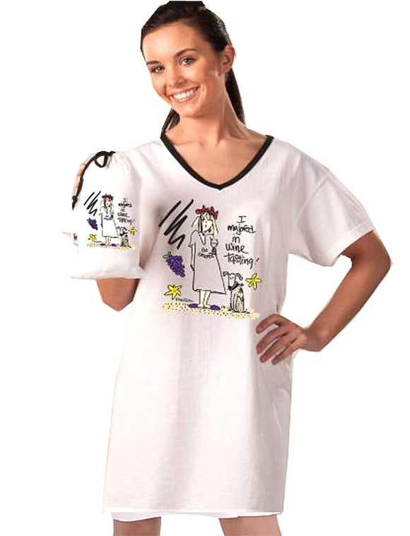 I Majored In Wine Tasting - Nightshirt In A Bag