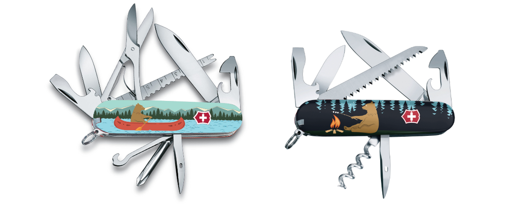 Bear Necessities and Beary Good Catch Exclusive Swiss Army Knives