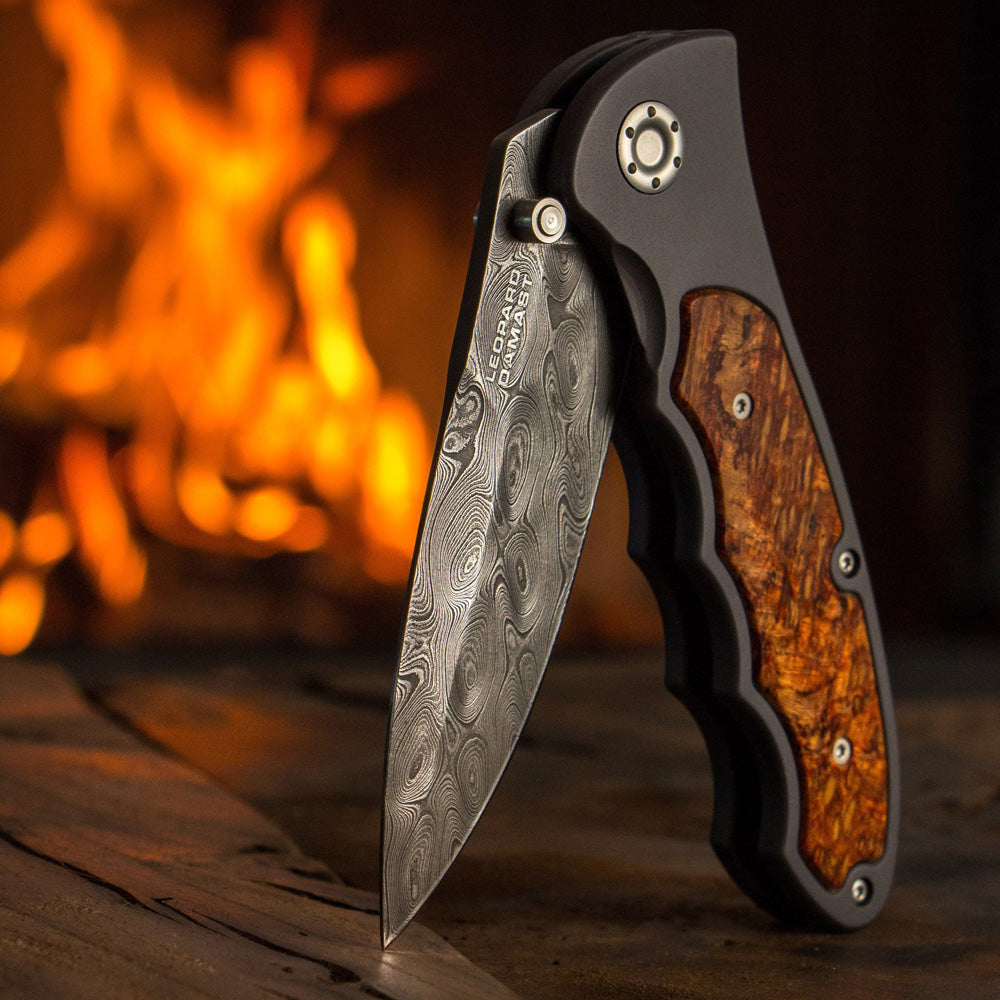 Boker Tirpitz Damascus Knife with Flames