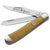 Boker Smooth Yellow Bone TS Trapper Folding Knife at Swiss Knife Shop