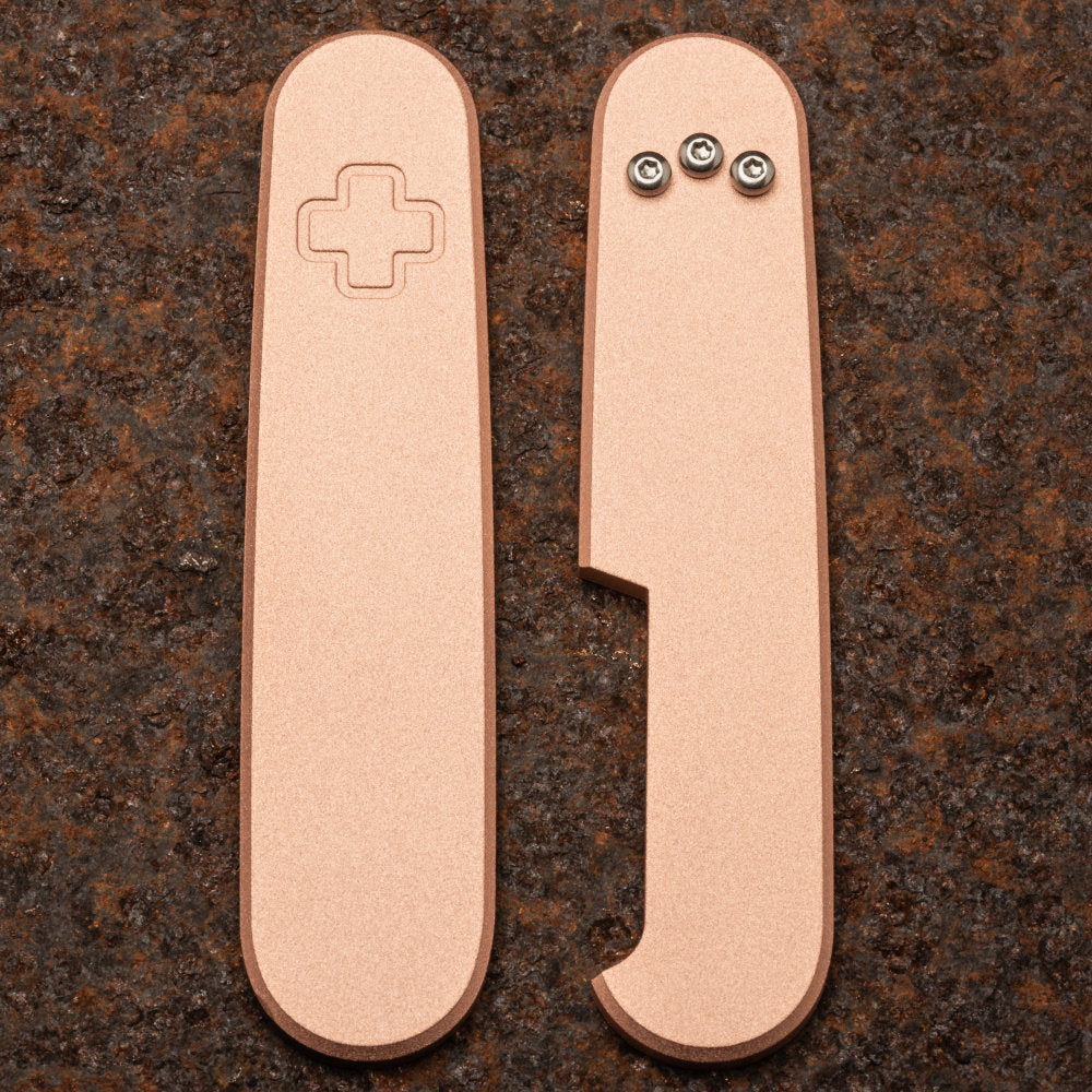 Daily Customs Plain Copper Handles for 91.2 mm Swiss Army Knives