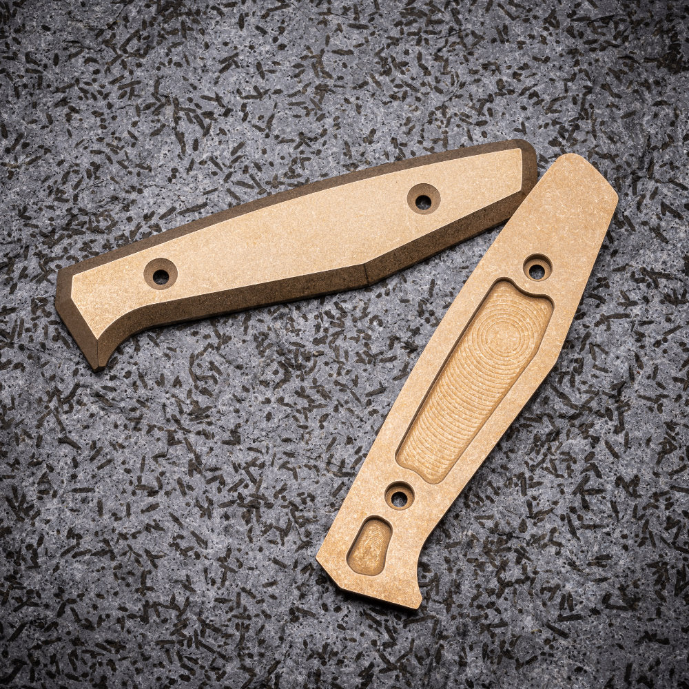 Daily Customs Bronzed Aluminum Handles for the Boker AK1 Daily Knife at Swiss Knife Shop