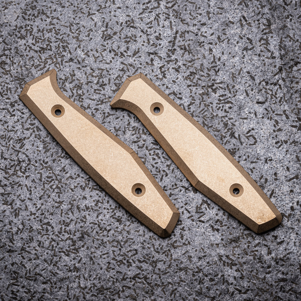 Daily Customs Bronzed Aluminum Front and Back Handles for the Boker AK1 Daily Knife