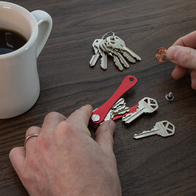 KeySmart Original Compact Key Holder is Easy to Assemble with Just Pocket Change