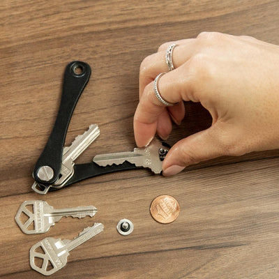 KeySmart Leather Key Holder is Easy to Load with Just a Penny