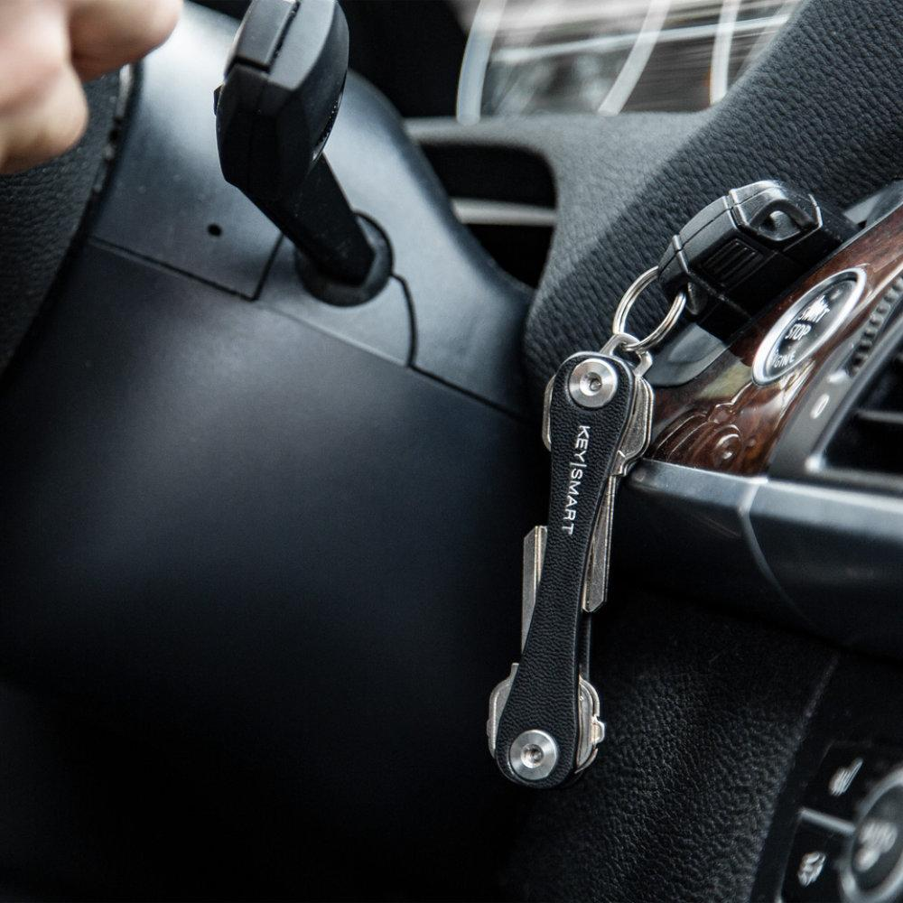 KeySmart Leather Key Holder Keeps Your Keys from Jangling as You Drive