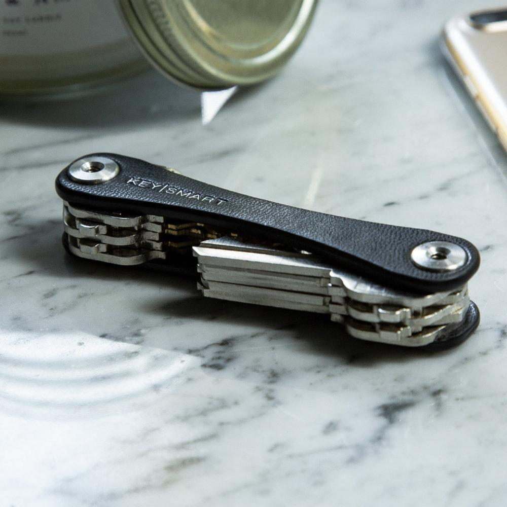 KeySmart Leather Key Holder Holds Up to 10 Keys