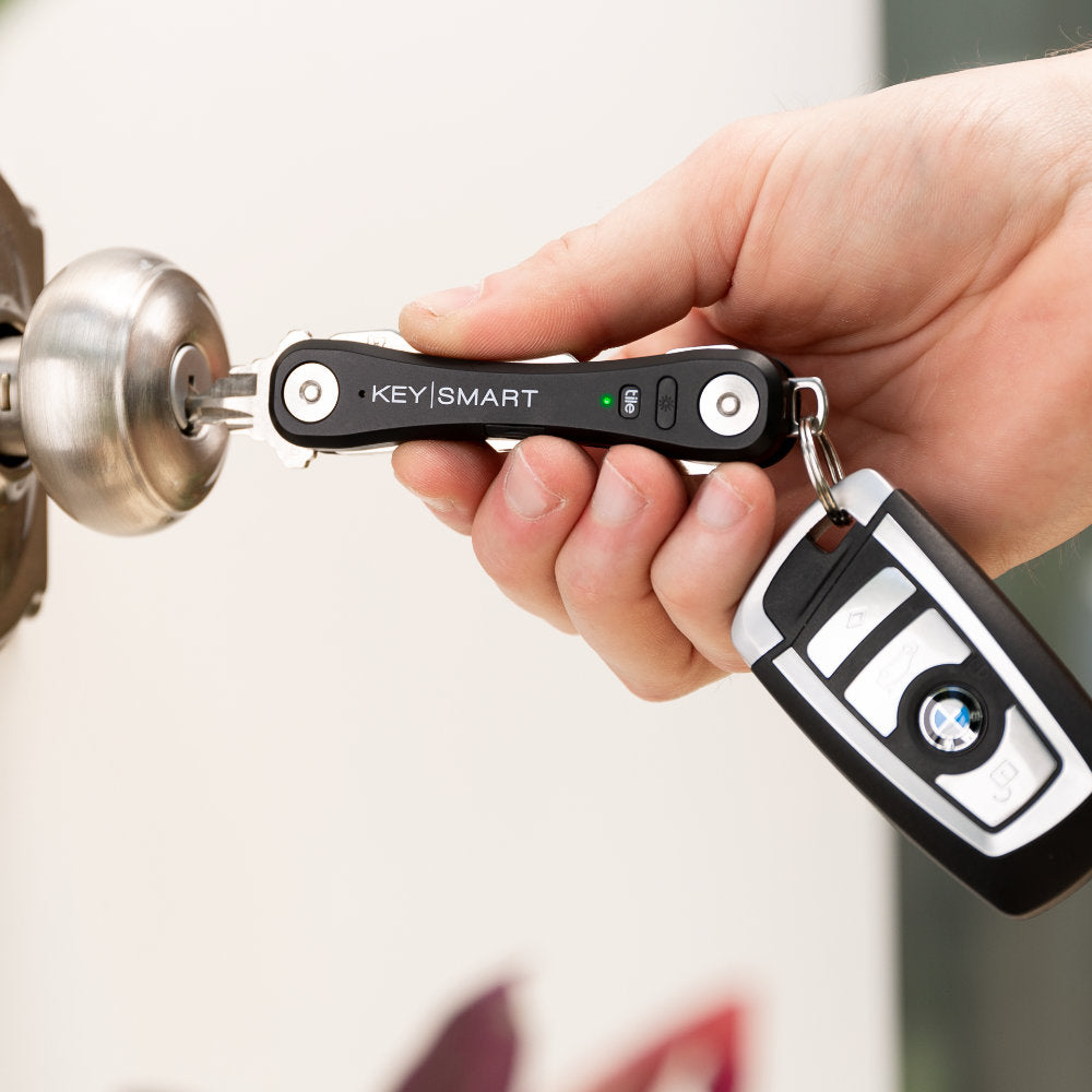 KeySmart Pro Compact Key Holder with Tile Smart Location Lets You Quickly Select the Key You Need