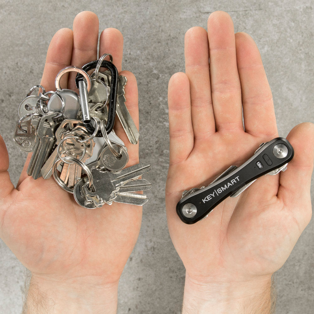 KeySmart Pro Compact Key Holder with Tile Smart Location vs. the Jumble