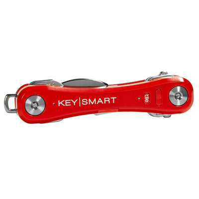 KeySmart Pro Compact Key Holder with Tile Smart Location Red